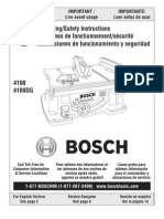 Bosch 4100 DG--Table Saw--Owners Manual