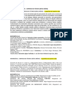 Matéria Técnico Concurso PBH ativos
