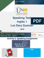 Presentación Speaking