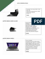 Laptos y Netbooks Actuales