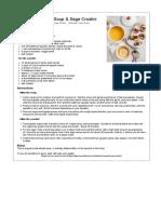 Butternut Squash Soup & Sage Crostini