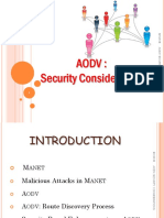 AODV - Security Considerations