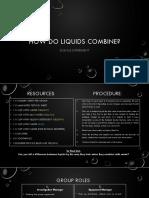 lesson 9 - how do liquids combine