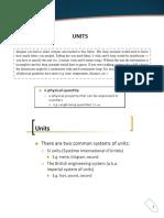 Moduole 1- Units