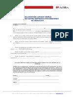 3. DECLARACIÓN RELACIONES ENTRE EMPRESAS PROVEEDORES DE SERVICIO REGIC.doc