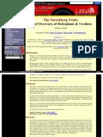 Nuremberg Trials Defendants and Verdict