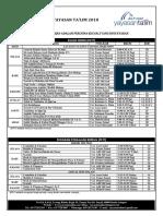 Jadual Pengajian YT 2018 [1 OGOS 2018]