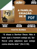 01-A Familia Criação de Deus