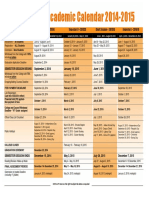 ATTACHMENT 3 - Academic Calendar 2014-2015