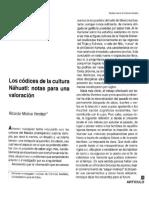 2.- Los códices de la cultura Náhuatl.pdf