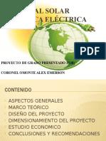 Presentacion Ing-Mecanica-16!07!13 ProyectoDeGrado DiseñoYCalculoDeUnaCentralSolarTermicaElectric