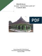 Proposal Masjid Masyhurul Qur'An