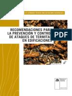 Recomendaciones Para La Prevención y Control de Ataques de Termitas en Edificaciones