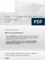 Scale of Community Architecture