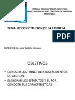 07. Formacion Empresa Estatutos y Rof