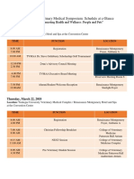 53rd Annual Veterinary Medical Symposium 2018_Schedule at a Glance_for Website