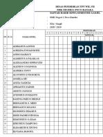 Daftar Hadir Semester Ganjil 2018.2019
