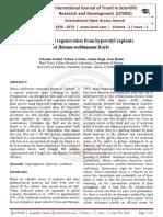 In vitro plant regeneration from hypocotyl explants of Rheum webbianum Royle