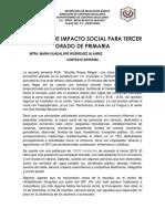Proyecto de Impacto Social Tercer Grado
