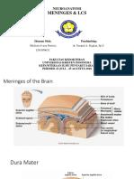 NEURO Neuroanatomi Meninges & LCS