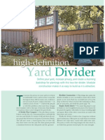 Yard Divider