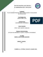 Proyecto Estudio de Inmuebles, Planta y Equipo