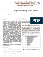 Perception of Security in Mexico through Bayesian Networks