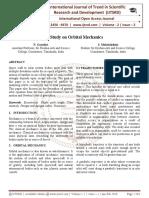 A Study on Orbital Mechanics