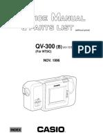 Casio - Digital Camera QV-300 B - Service Manual