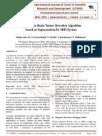 An Efficient Brain Tumor Detection Algorithm based on Segmentation for MRI System