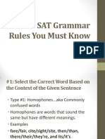SAT Must Know Grammar Rules