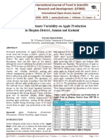 Impact of Climate Variability on Apple Production in Shopian District, Jammu and Kashmir