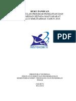 DRAF - Pengusulan Program Penelitian Dan Pengabdian Kepada Masyarakat Melalui Simlitabmas Tahun 2018