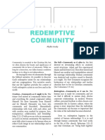 Church as the Redemptive Community of God's People