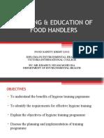 Training & Education of Food Handlers