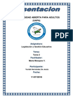 Tarea 2 de Legislacion Educativa