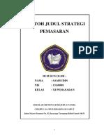 Contoh Judul Strategi Pemasaran