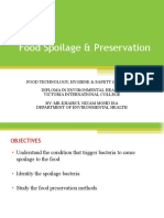 Food Spoilage & Preservation