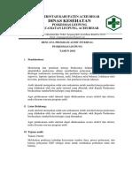 Jadwal Audit Internal Puskesma Leupueng