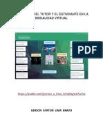 Funciones Del Tutor y El Estudiante en La Modalidad Virtual