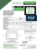 Purgable Instrument Access Door Worksheet