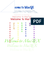 Welcome to MacTeX