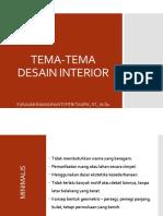 Tema Desain Interior