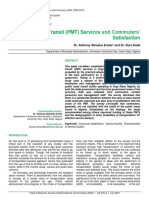 Public Mass Transit (PMT) Services and Commuters' Satisfaction