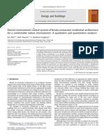 Kerala Vernacular Residential Architecture- Qualitative and Quantitative Analysis