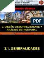 3.1 Generalidades Para El Diseño Sismorresistente (Ingenieria Sismica Unc 2018-i)