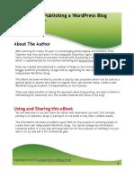 Creating and Publishing a WordPress Blog