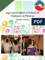 Mga Isyu Tungkol Sa Kultura at Tradisyon Sa