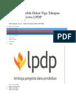 Mengenal Lebih Dekat Tiga Tahapan Seleksi Beasiswa LPDP