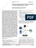 Hybrid Energy Management System Design With Renewable Energy Sources (Fuel Cells, PV Cells and Wind Energy) a Review